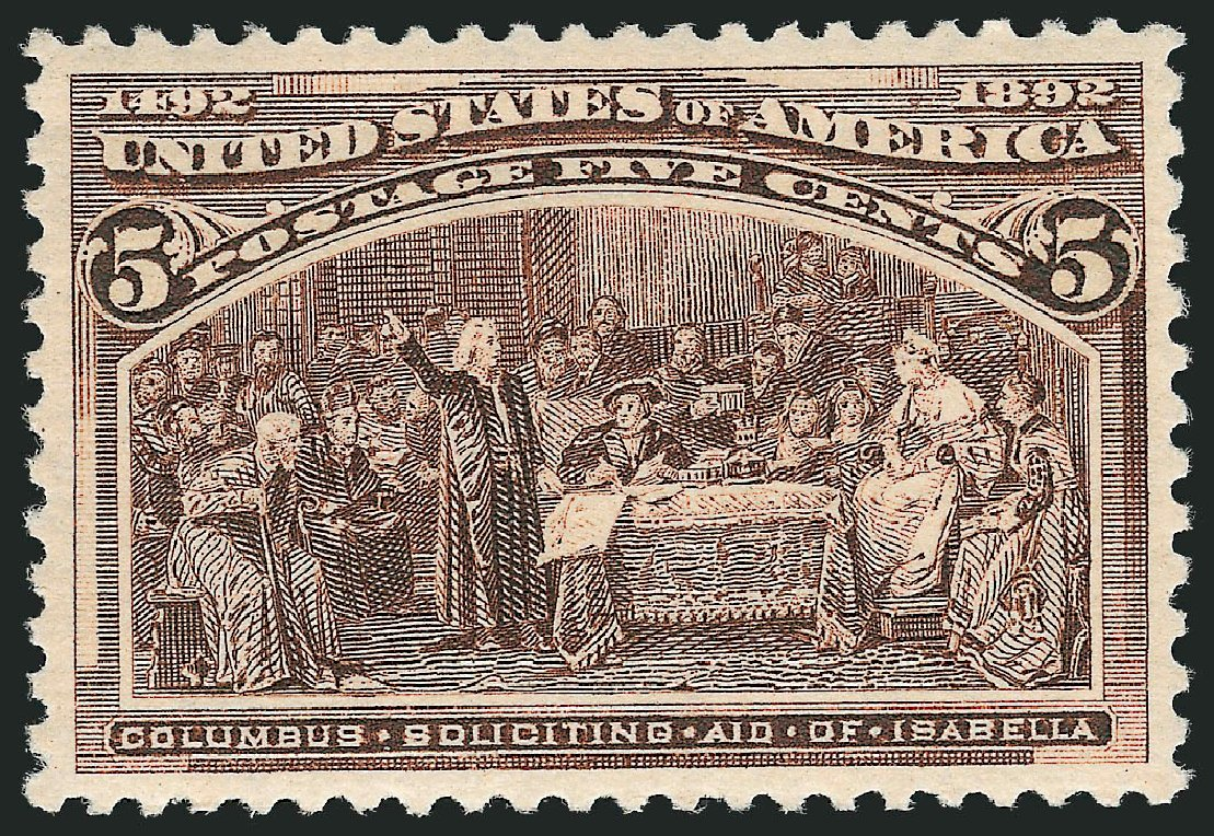 Values of US Stamps Scott 234: 5c 1893 Columbian Exposition. Robert Siegel Auction Galleries, Feb 2015, Sale 1092, Lot 1172