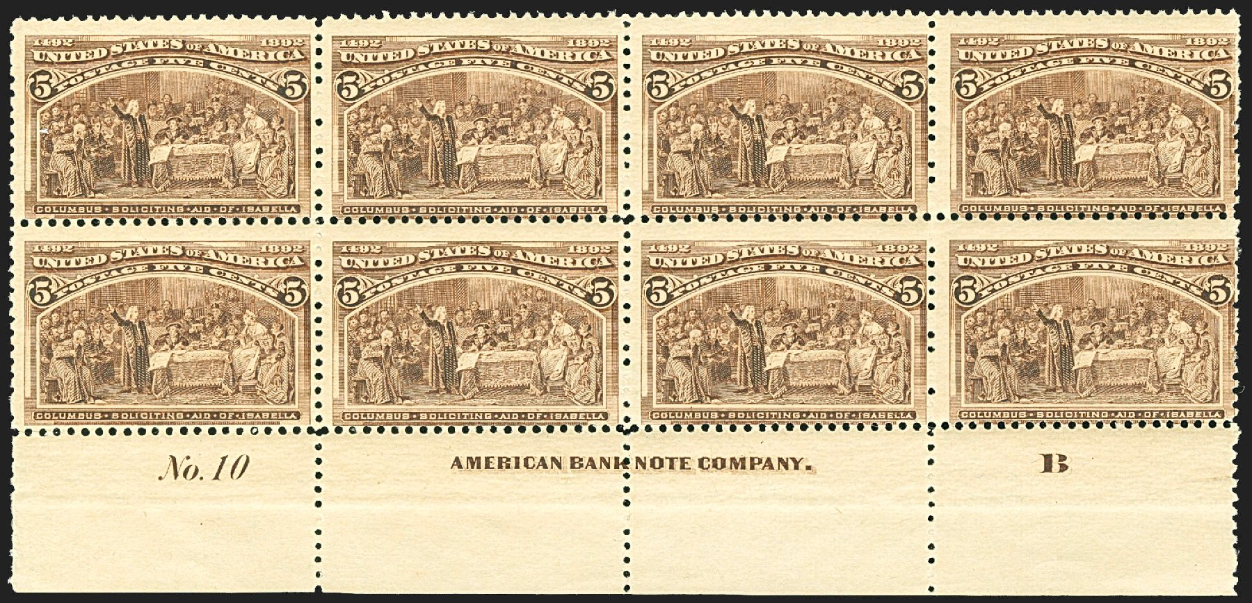 US Stamps Price Scott #234 - 1893 5c Columbian Exposition. Robert Siegel Auction Galleries, Jul 2015, Sale 1107, Lot 312