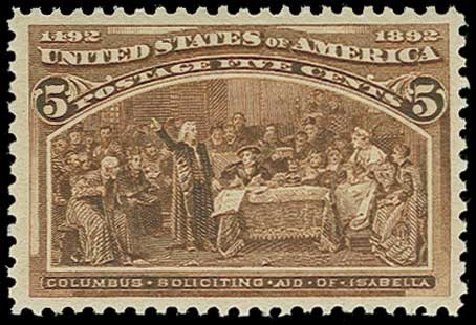 Value of US Stamps Scott #234 - 5c 1893 Columbian Exposition. H.R. Harmer, Jun 2015, Sale 3007, Lot 3243
