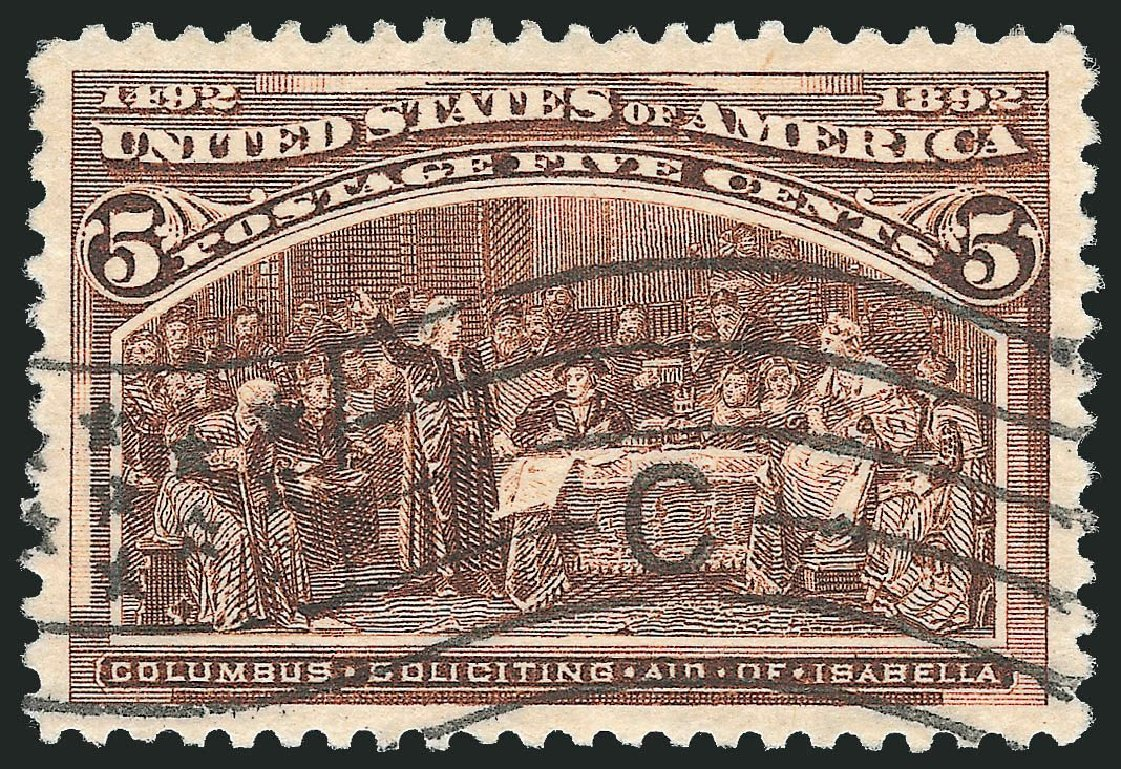 US Stamp Prices Scott Catalog # 234 - 1893 5c Columbian Exposition. Robert Siegel Auction Galleries, Nov 2014, Sale 1084, Lot 3533