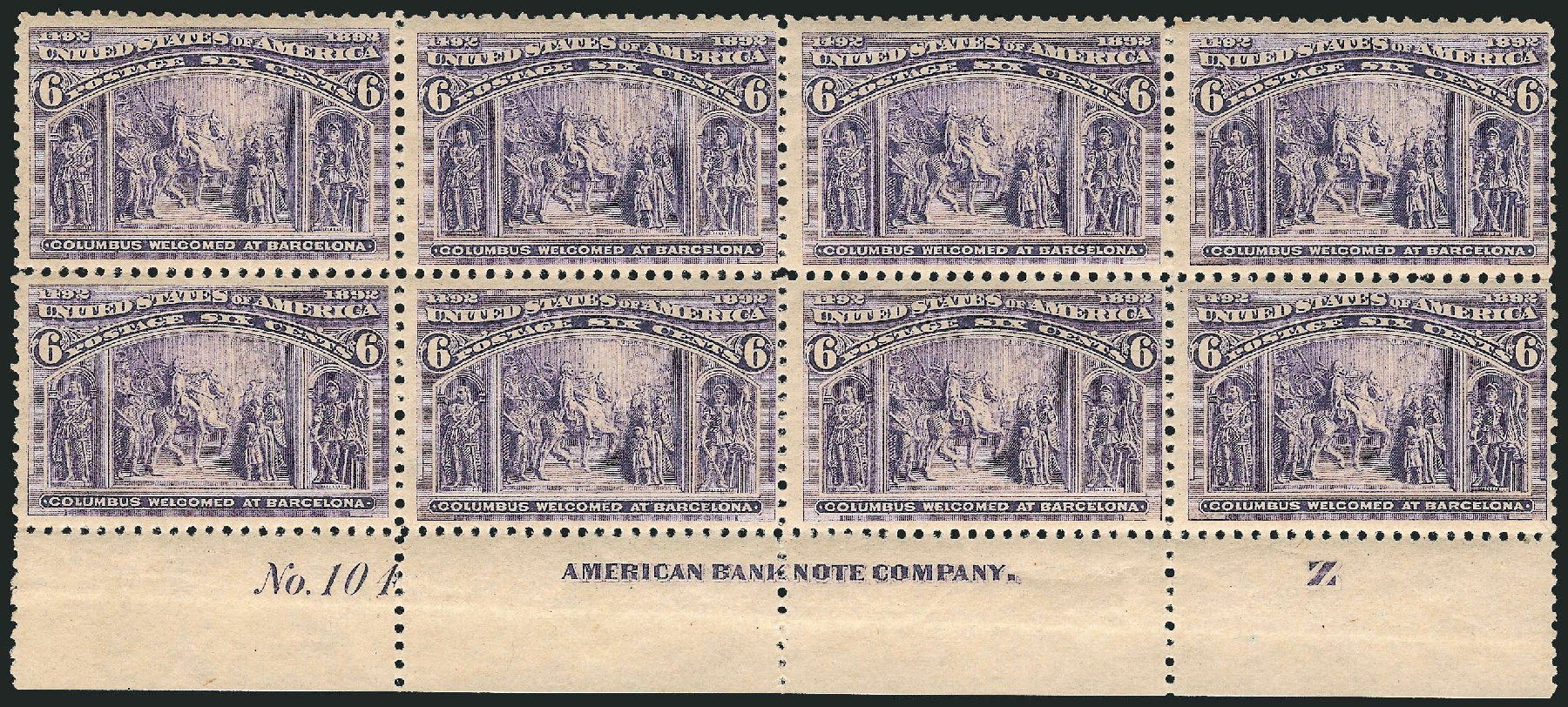Costs of US Stamp Scott Catalog 235: 6c 1893 Columbian Exposition. Robert Siegel Auction Galleries, Apr 2015, Sale 1096, Lot 411