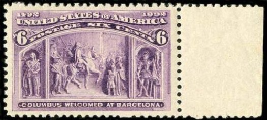 Values of US Stamps Scott Catalog #235 - 6c 1893 Columbian Exposition. Spink Shreves Galleries, Jul 2015, Sale 151, Lot 184