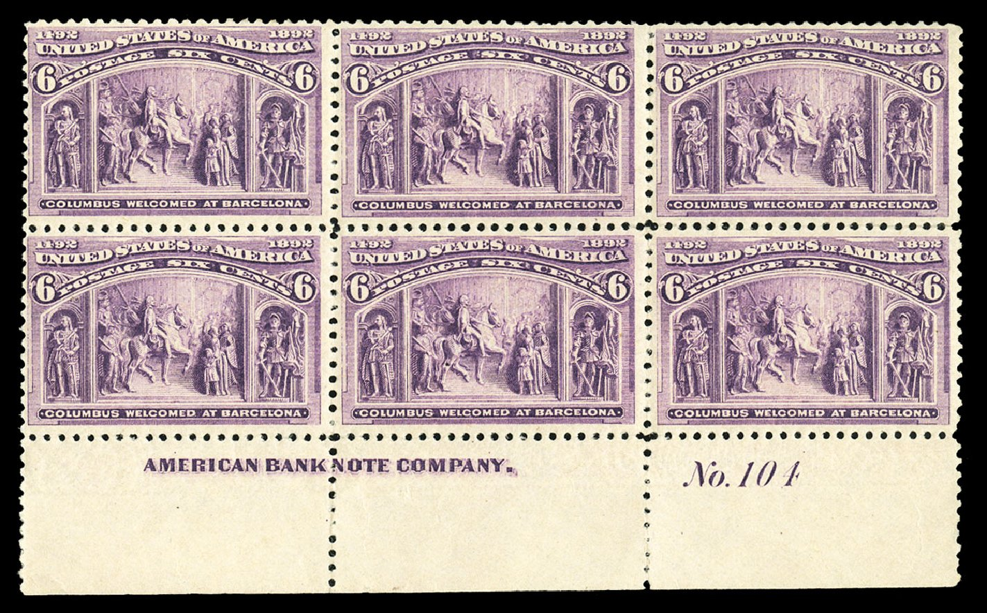 Price of US Stamp Scott Catalog 235: 6c 1893 Columbian Exposition. Cherrystone Auctions, Jul 2015, Sale 201507, Lot 2085