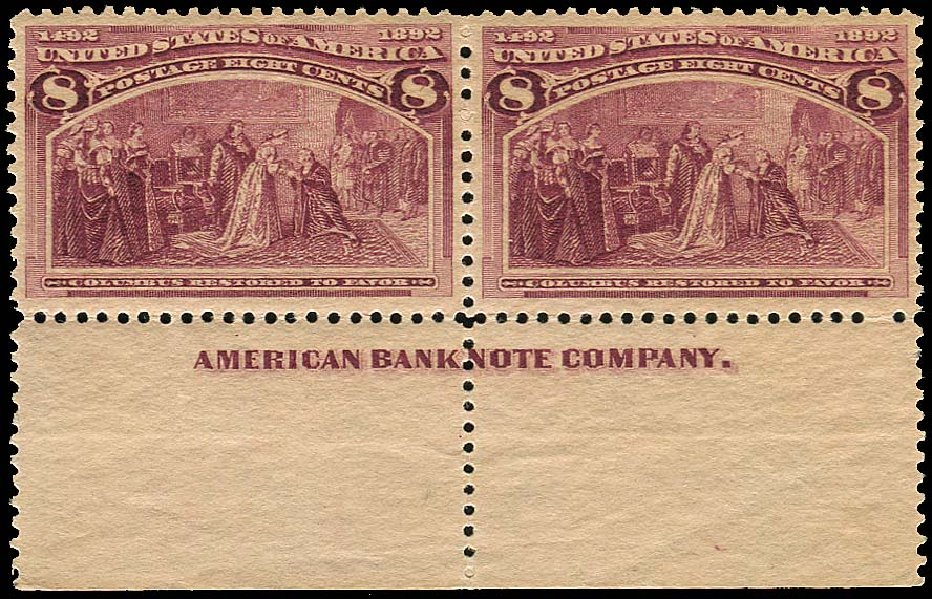 Prices of US Stamps Scott Cat. # 236 - 8c 1893 Columbian Exposition. Regency-Superior, Jan 2015, Sale 109, Lot 900