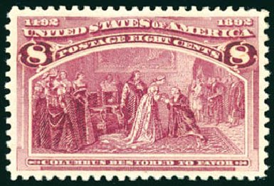 US Stamp Price Scott Catalogue 236 - 1893 8c Columbian Exposition. Schuyler J. Rumsey Philatelic Auctions, Apr 2015, Sale 60, Lot 2214