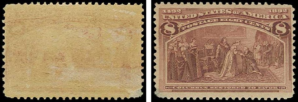Cost of US Stamp Scott Cat. #236: 8c 1893 Columbian Exposition. H.R. Harmer, Jun 2015, Sale 3007, Lot 3245