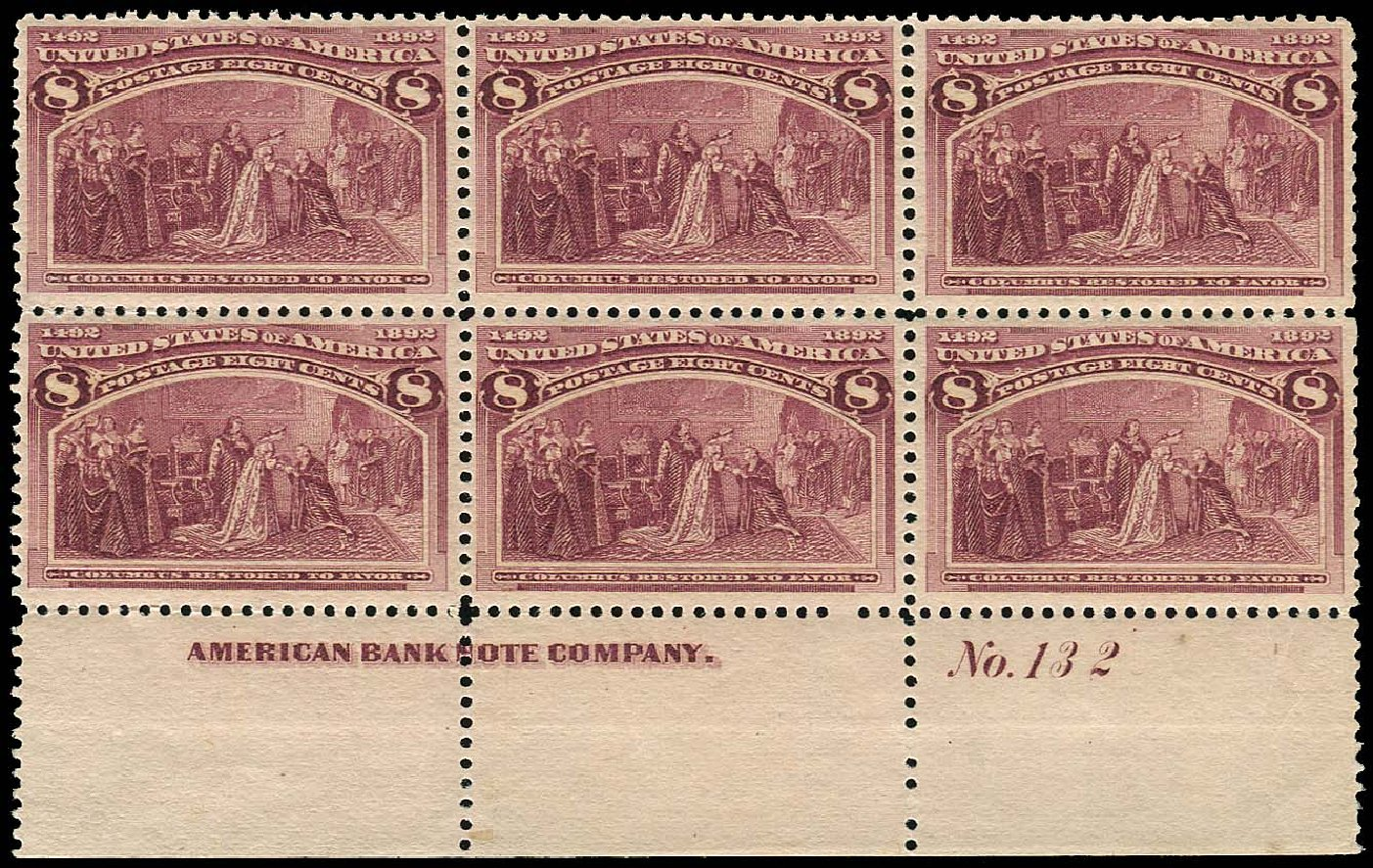 Costs of US Stamps Scott Catalog #236: 1893 8c Columbian Exposition. Regency-Superior, Aug 2015, Sale 112, Lot 1282