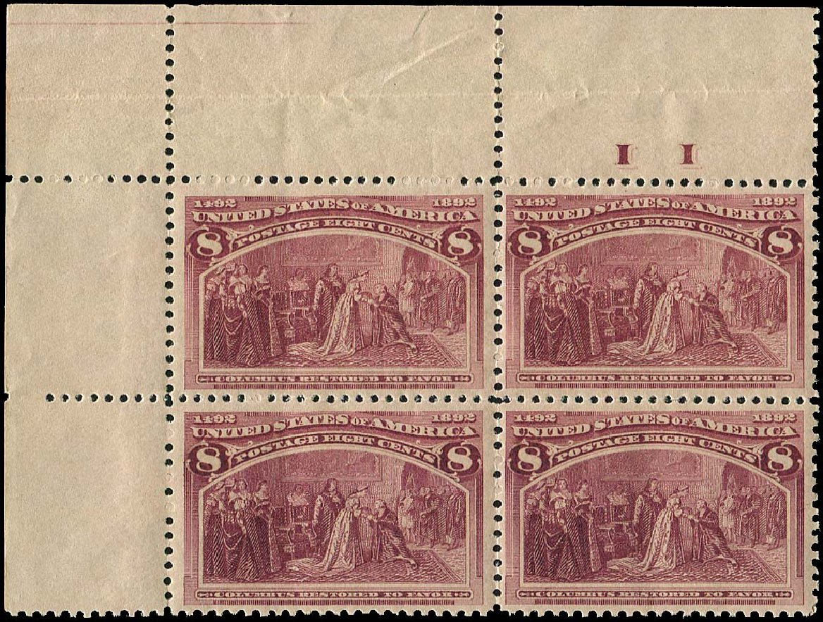 US Stamp Prices Scott Cat. # 236: 1893 8c Columbian Exposition. Regency-Superior, Aug 2015, Sale 112, Lot 413