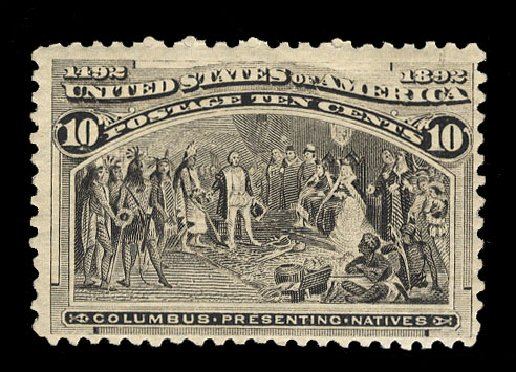 Price of US Stamp Scott Cat. 237: 10c 1893 Columbian Exposition. Cherrystone Auctions, Mar 2015, Sale 201503, Lot 27