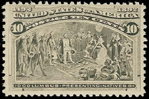 Values of US Stamp Scott #237 - 10c 1893 Columbian Exposition. H.R. Harmer, Oct 2014, Sale 3006, Lot 1257