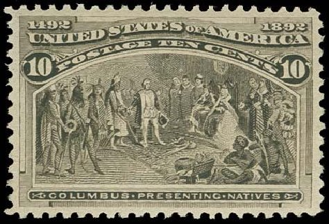 Values of US Stamp Scott Cat. #237: 1893 10c Columbian Exposition. H.R. Harmer, Oct 2014, Sale 3006, Lot 1258