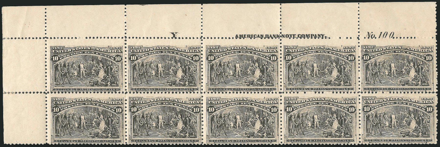 Values of US Stamp Scott Catalogue 237: 10c 1893 Columbian Exposition. Robert Siegel Auction Galleries, Jun 2015, Sale 1100, Lot 48