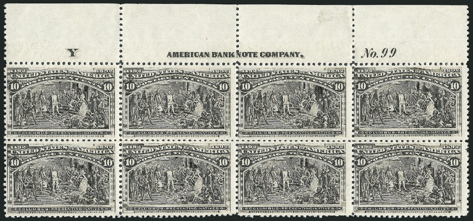 US Stamps Price Scott Catalog 237: 1893 10c Columbian Exposition. Robert Siegel Auction Galleries, Jun 2015, Sale 1100, Lot 49