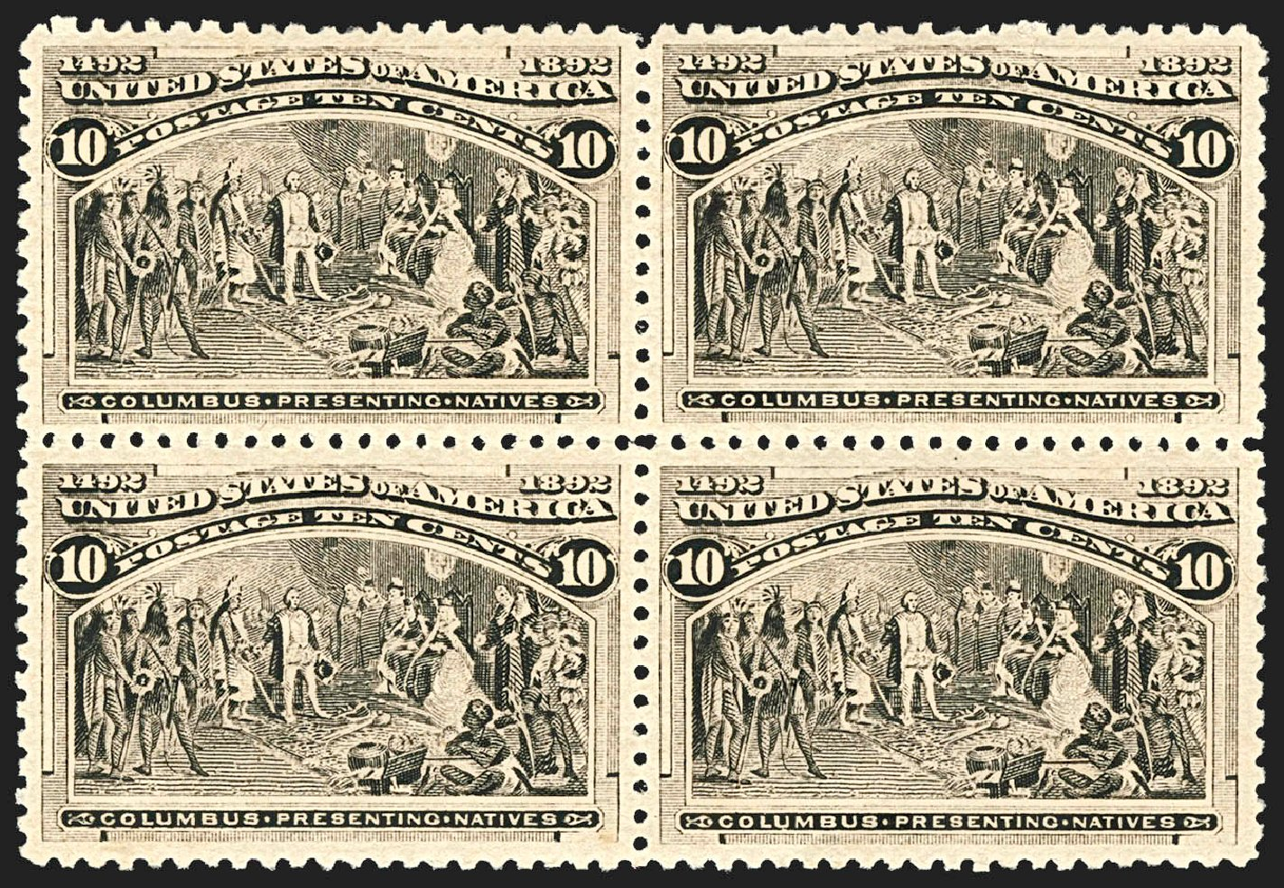 Costs of US Stamps Scott Cat. # 237 - 1893 10c Columbian Exposition. Robert Siegel Auction Galleries, Jul 2015, Sale 1107, Lot 319