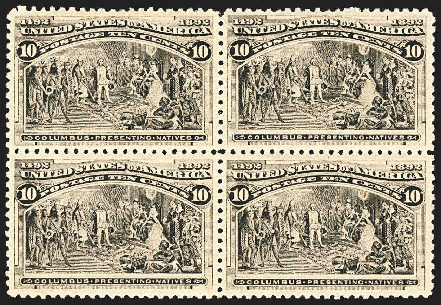 Costs of US Stamps Scott Cat. # 237 - 1893 10c Columbian Exposition. Robert Siegel Auction Galleries, Jul 2015, Sale 1107, Lot 319
