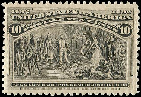 US Stamp Prices Scott 237: 10c 1893 Columbian Exposition. Regency-Superior, Jan 2015, Sale 109, Lot 901
