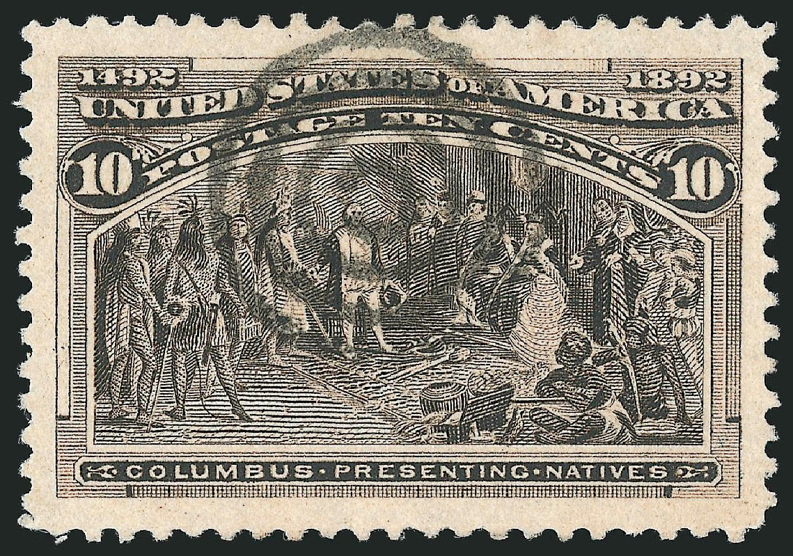Value of US Stamp Scott Catalogue 237 - 10c 1893 Columbian Exposition. Robert Siegel Auction Galleries, Apr 2015, Sale 1096, Lot 414