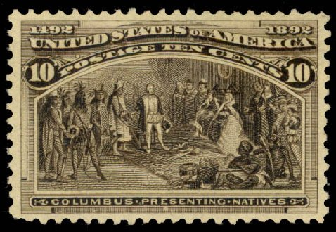 Cost of US Stamp Scott Catalogue #237 - 1893 10c Columbian Exposition. Daniel Kelleher Auctions, Aug 2015, Sale 672, Lot 2475