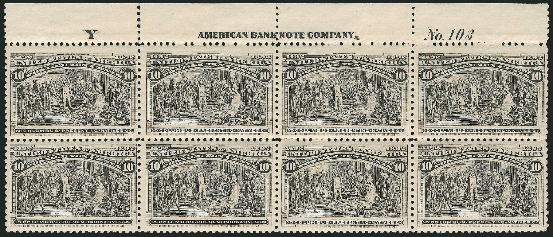 Values of US Stamps Scott # 237: 1893 10c Columbian Exposition. Robert Siegel Auction Galleries, Apr 2015, Sale 1096, Lot 413