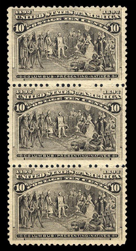 Value of US Stamp Scott # 237: 1893 10c Columbian Exposition. Cherrystone Auctions, Mar 2015, Sale 201503, Lot 26