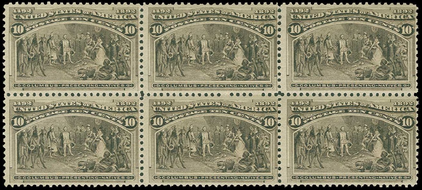 US Stamps Prices Scott 237: 1893 10c Columbian Exposition. H.R. Harmer, Jun 2015, Sale 3007, Lot 3246