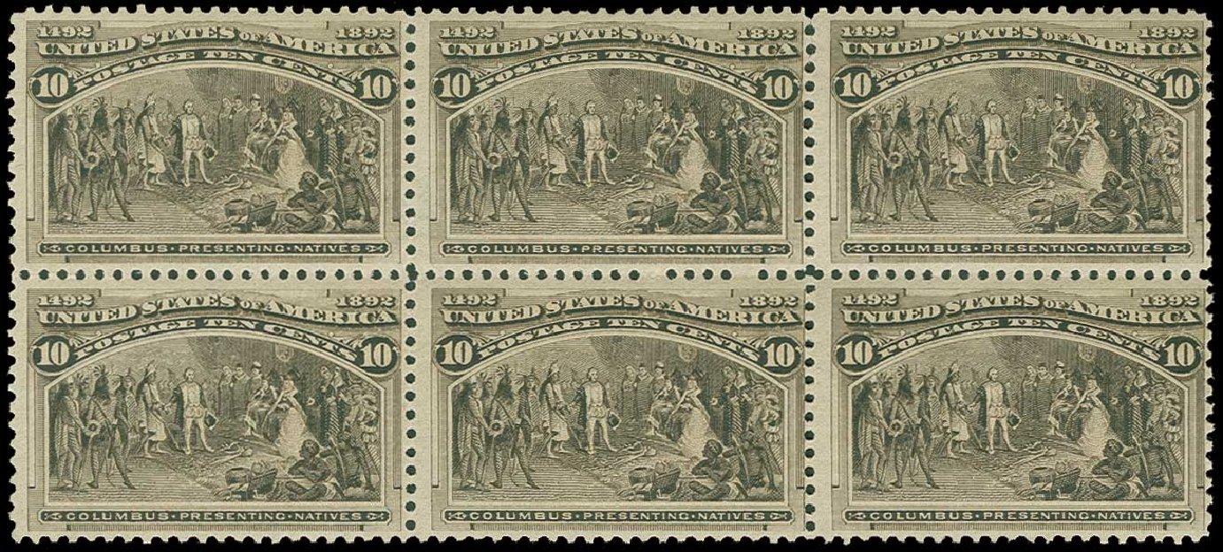 US Stamps Prices Scott 237: 1893 10c Columbian Exposition. H.R. Harmer, Jun 2015, Sale 3007, Lot 3246