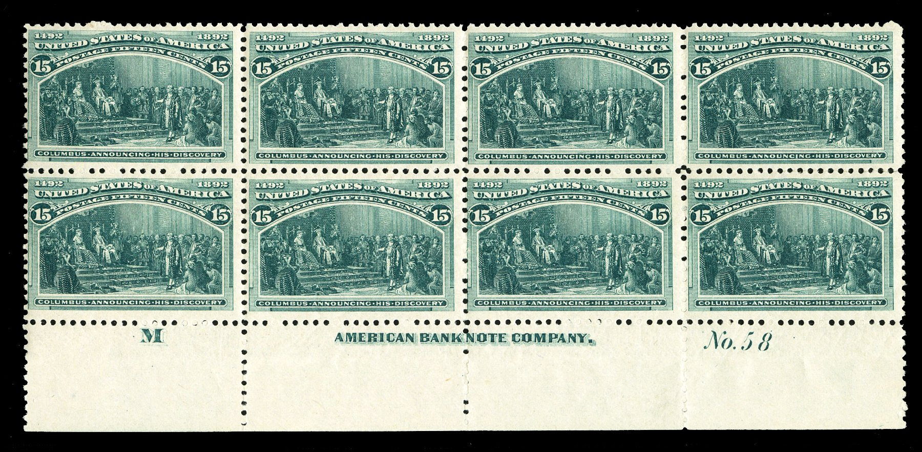 Price of US Stamp Scott Catalog 238 - 15c 1893 Columbian Exposition. Cherrystone Auctions, Jul 2015, Sale 201507, Lot 2087