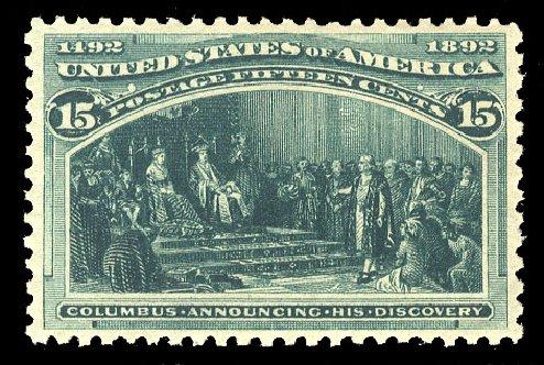 US Stamps Prices Scott Catalogue #238 - 15c 1893 Columbian Exposition. Cherrystone Auctions, Mar 2015, Sale 201503, Lot 28