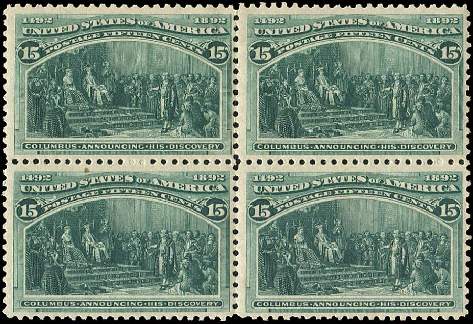 Costs of US Stamps Scott Catalogue #238: 15c 1893 Columbian Exposition. Regency-Superior, Aug 2015, Sale 112, Lot 419