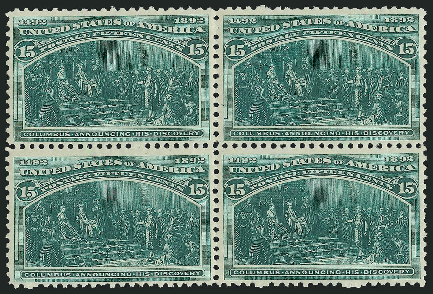 US Stamps Prices Scott Catalogue # 238: 15c 1893 Columbian Exposition. Robert Siegel Auction Galleries, Jun 2015, Sale 1100, Lot 50