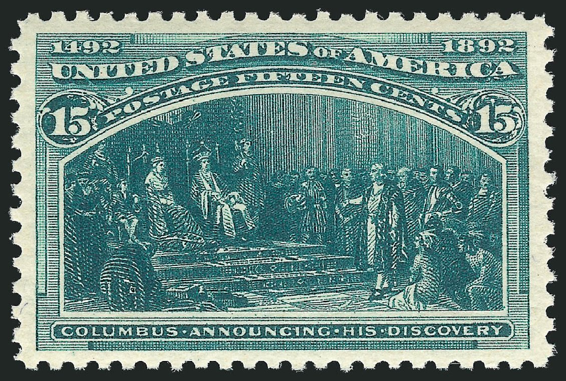 US Stamps Prices Scott Catalog 238: 15c 1893 Columbian Exposition. Robert Siegel Auction Galleries, Jul 2015, Sale 1107, Lot 320