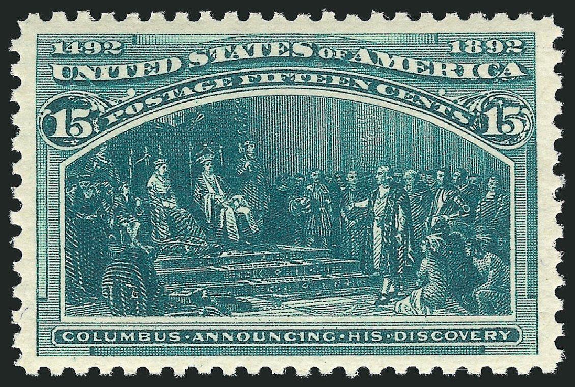 US Stamps Prices Scott Catalog 238: 15c 1893 Columbian Exposition. Robert Siegel Auction Galleries, Jul 2015, Sale 1107, Lot 320