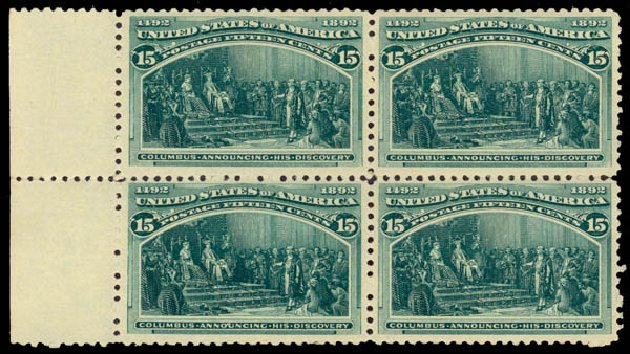 Value of US Stamps Scott 238 - 15c 1893 Columbian Exposition. Daniel Kelleher Auctions, Jan 2015, Sale 663, Lot 1461
