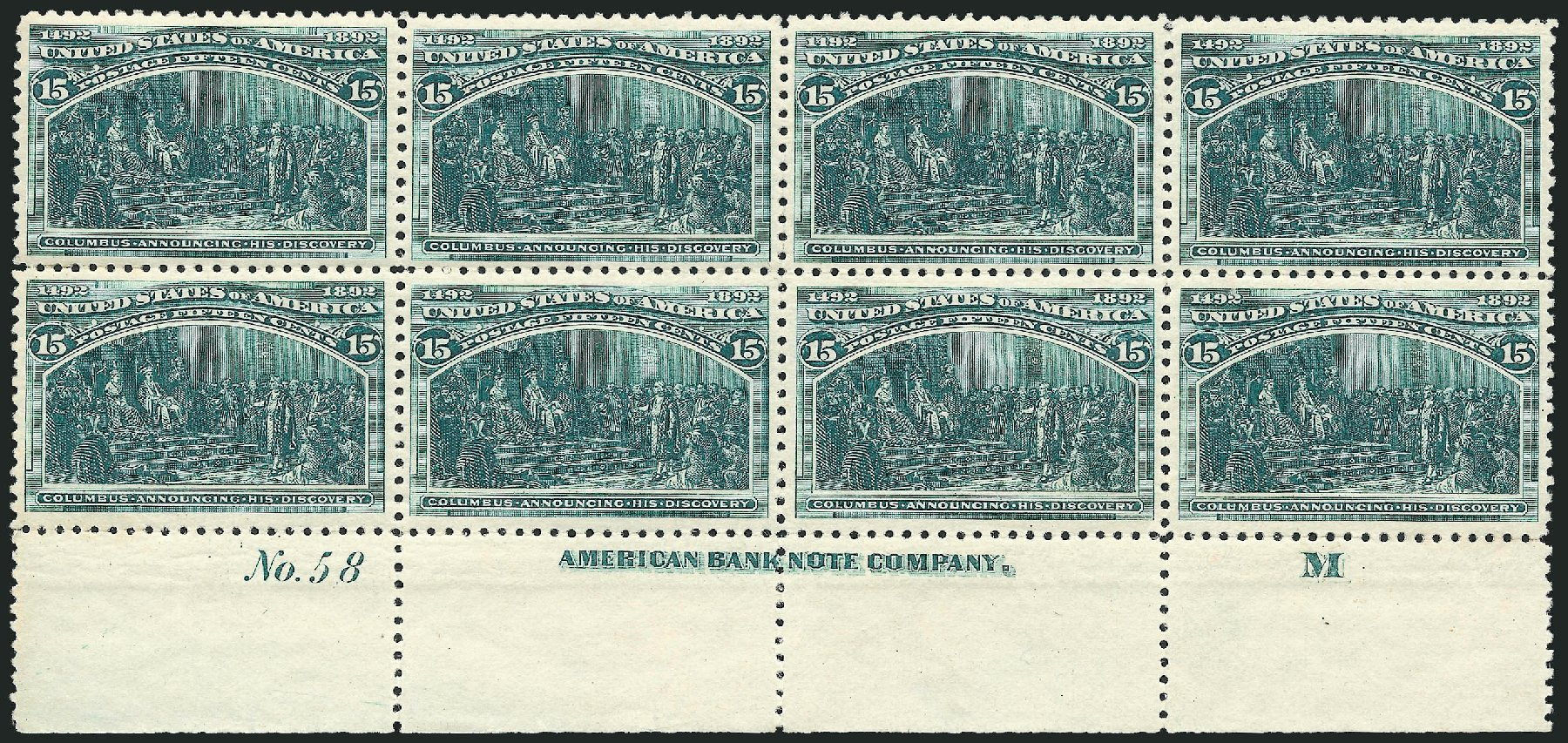 Prices of US Stamps Scott #238: 1893 15c Columbian Exposition. Robert Siegel Auction Galleries, Jun 2015, Sale 1100, Lot 51