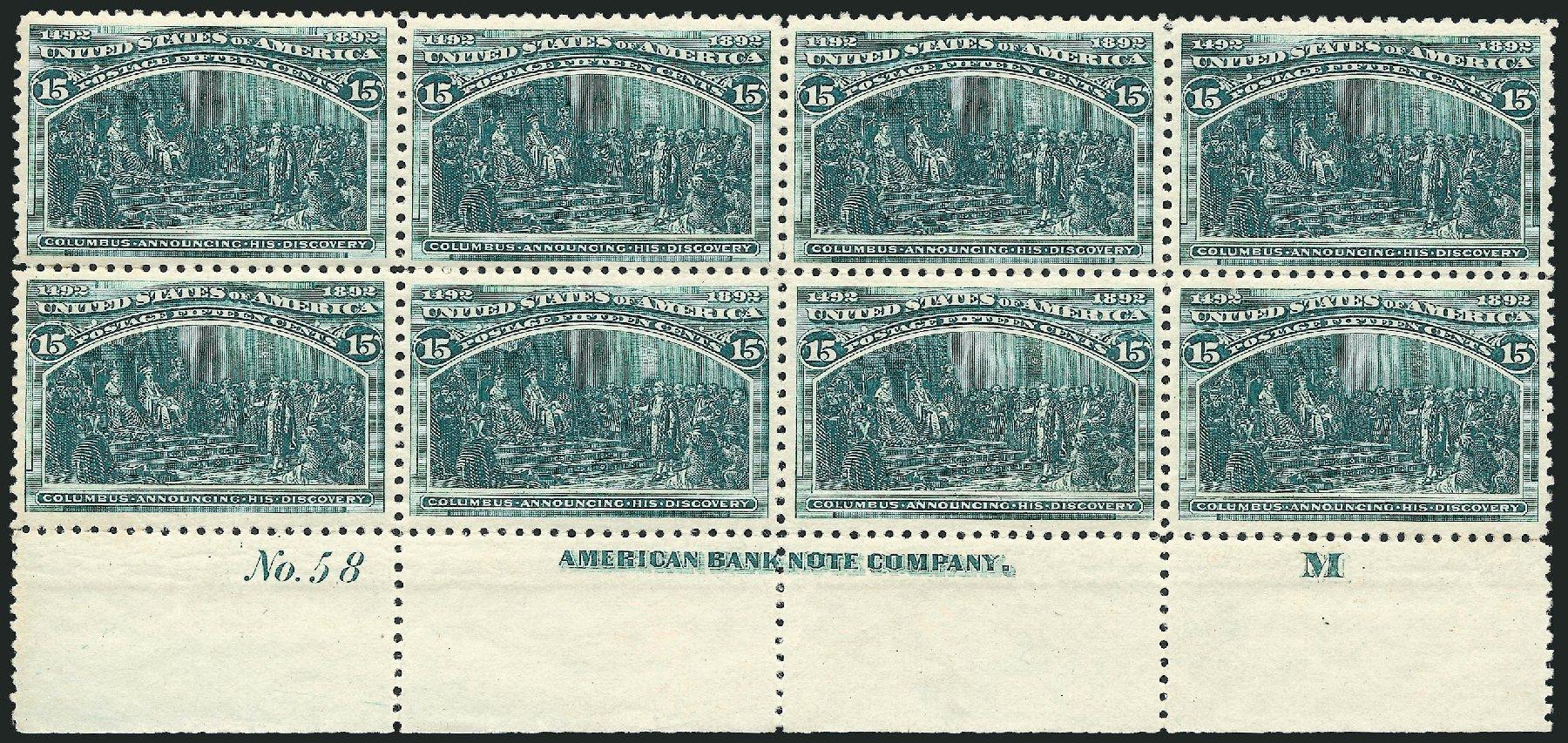Prices of US Stamps Scott #238: 1893 15c Columbian Exposition. Robert Siegel Auction Galleries, Jun 2015, Sale 1100, Lot 51