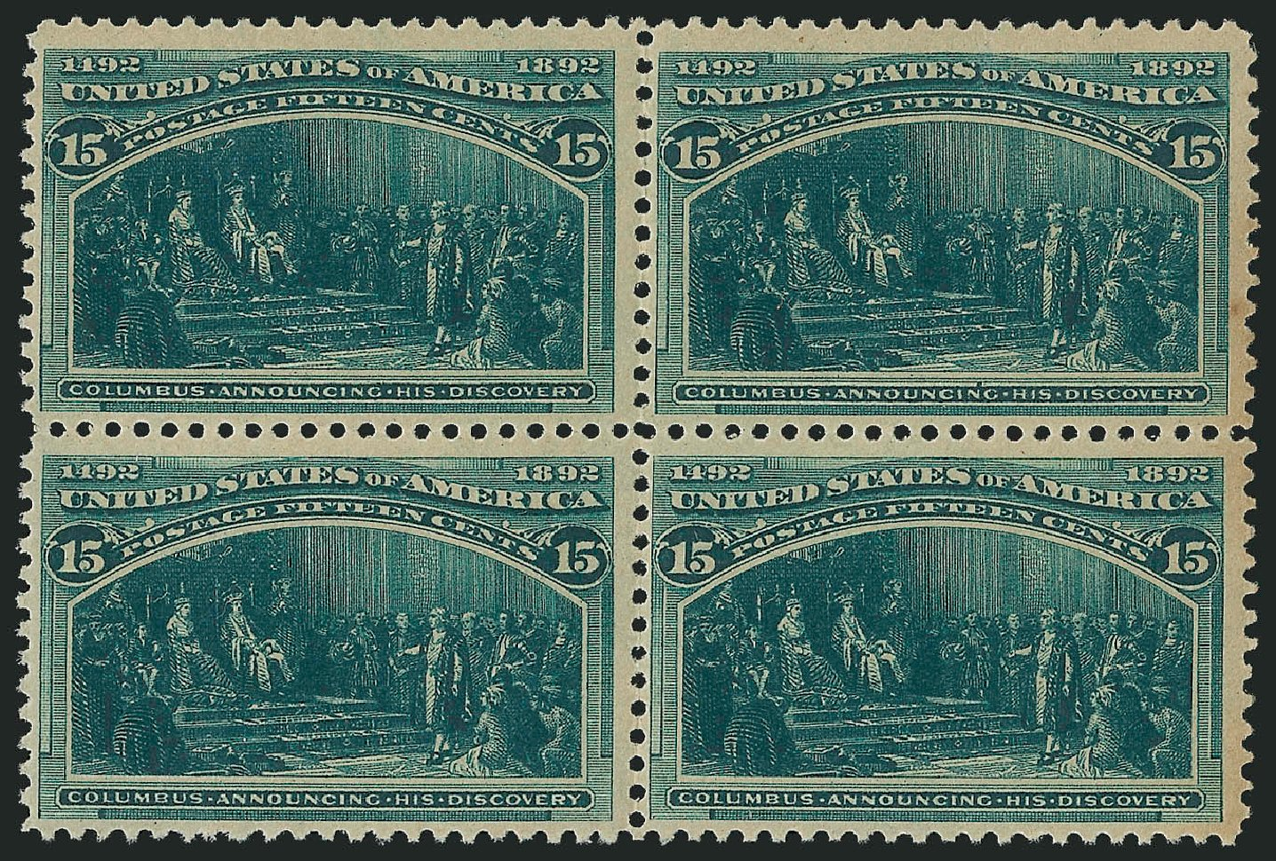 US Stamps Prices Scott Cat. #238: 1893 15c Columbian Exposition. Robert Siegel Auction Galleries, Jul 2015, Sale 1107, Lot 321