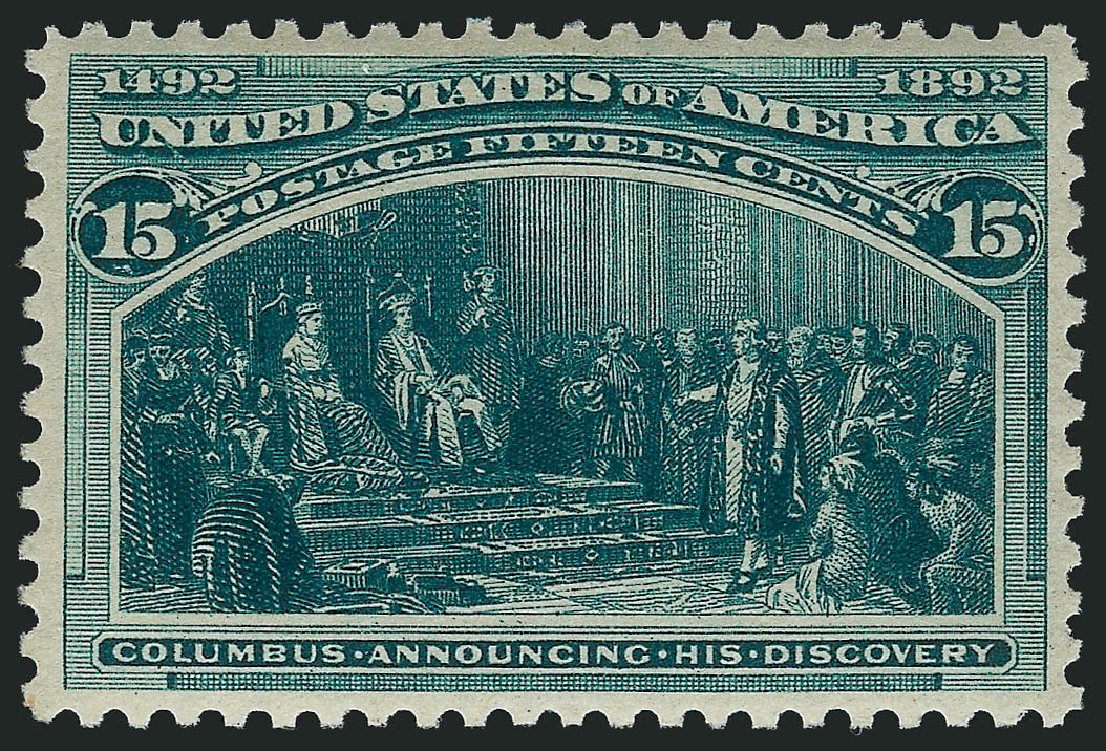Cost of US Stamps Scott #238 - 15c 1893 Columbian Exposition. Robert Siegel Auction Galleries, Apr 2015, Sale 1096, Lot 415