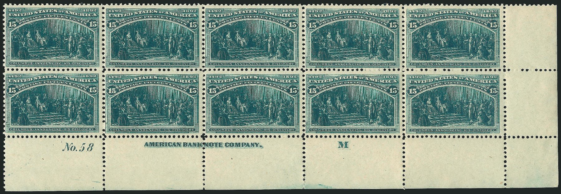 Prices of US Stamps Scott 238: 1893 15c Columbian Exposition. Robert Siegel Auction Galleries, Apr 2015, Sale 1096, Lot 416