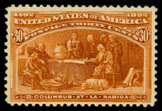 Cost of US Stamp Scott # 239 - 30c 1893 Columbian Exposition. Daniel Kelleher Auctions, Aug 2015, Sale 672, Lot 2477