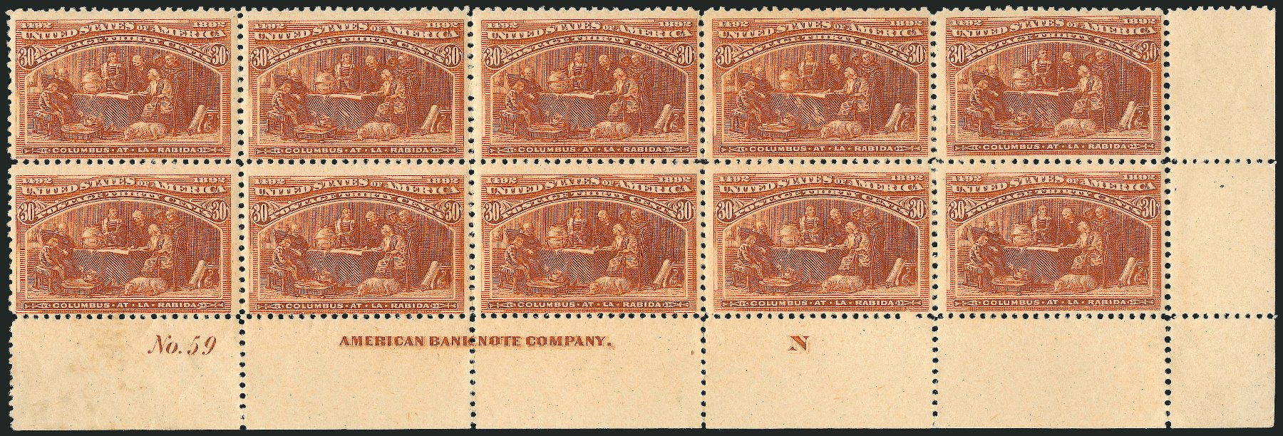 Value of US Stamps Scott Catalogue 239: 30c 1893 Columbian Exposition. Robert Siegel Auction Galleries, Apr 2015, Sale 1096, Lot 417