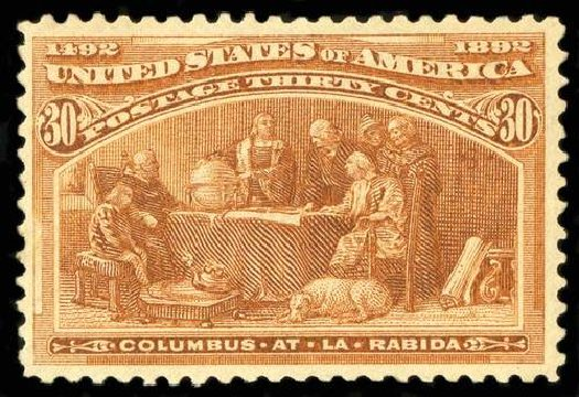 US Stamp Value Scott Cat. 239: 1893 30c Columbian Exposition. Spink Shreves Galleries, Jul 2015, Sale 151, Lot 187