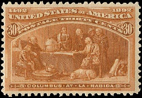 US Stamp Value Scott 239: 1893 30c Columbian Exposition. Regency-Superior, Aug 2015, Sale 112, Lot 428
