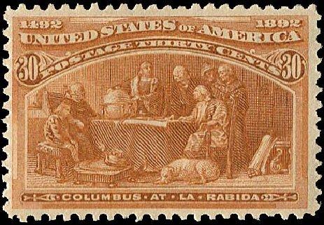 US Stamp Value Scott 239: 1893 30c Columbian Exposition. Regency-Superior, Aug 2015, Sale 112, Lot 428