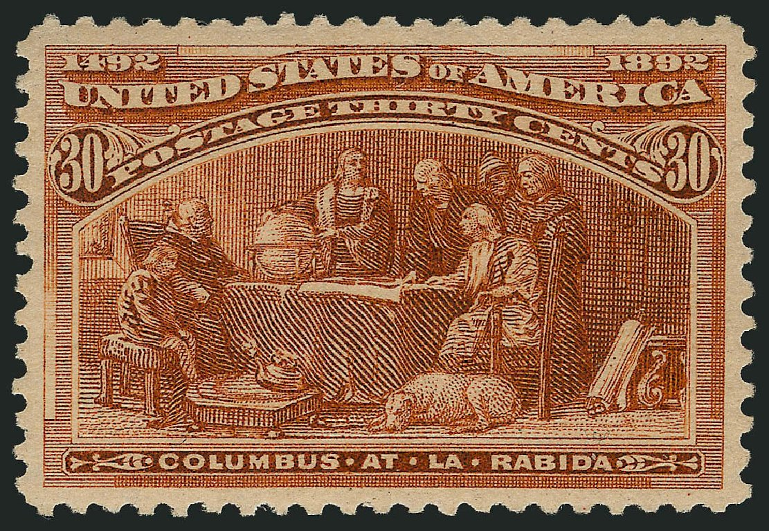 Price of US Stamps Scott Catalogue 239: 30c 1893 Columbian Exposition. Robert Siegel Auction Galleries, Apr 2015, Sale 1096, Lot 418