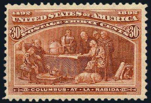 US Stamps Prices Scott Catalog 239: 1893 30c Columbian Exposition. Harmer-Schau Auction Galleries, May 2015, Sale 105, Lot 134