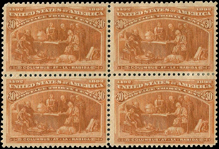 Price of US Stamps Scott #239 - 30c 1893 Columbian Exposition. Regency-Superior, Aug 2015, Sale 112, Lot 424