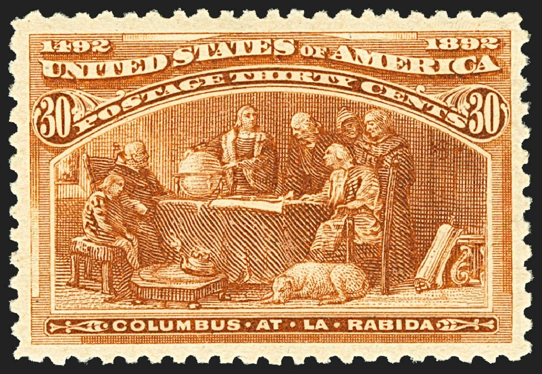 Costs of US Stamps Scott Catalog 239: 1893 30c Columbian Exposition. Robert Siegel Auction Galleries, Jul 2015, Sale 1107, Lot 322