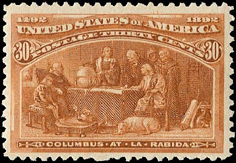US Stamp Prices Scott Catalogue 239: 30c 1893 Columbian Exposition. Regency-Superior, Aug 2015, Sale 112, Lot 426