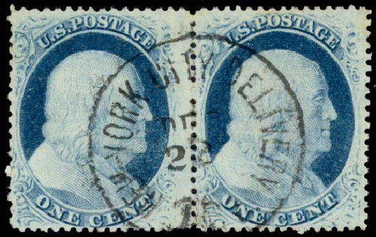 Costs of US Stamps Scott Catalogue #24 - 1857 1c Franklin. Daniel Kelleher Auctions, May 2015, Sale 669, Lot 2437