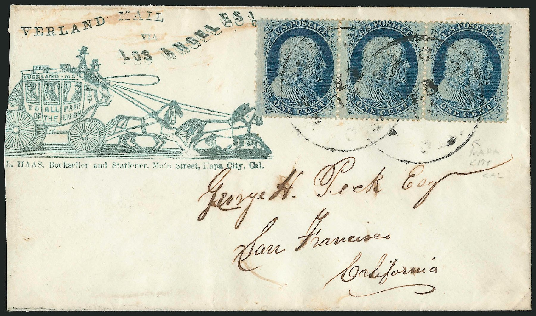 Price of US Stamps Scott Catalog #24: 1857 1c Franklin. Robert Siegel Auction Galleries, Jun 2015, Sale 1105, Lot 2547